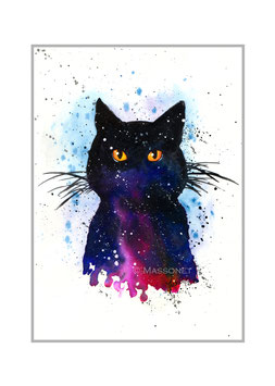 COSMIC CAT- Art Print - 21x30 cm
