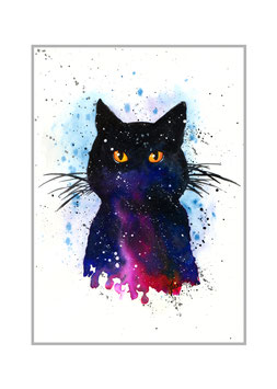 COSMIC CAT -  Art Print - 30x42 cm