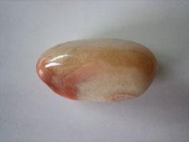 Korallenachat  Trommelstein 28 x 16 mm