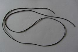 1 Lederband schwarz Ziegenleder 100 cm lang 1,5 mm Ø