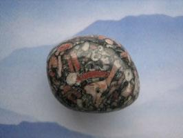 Jaspis - Turitella-Jaspis Trommelstein 27 x 20 mm
