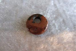 Mahagoniobsidian Mini-Donut gebohrt 15 mm Durchmesser