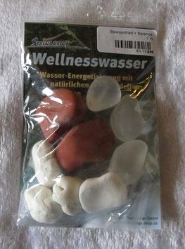 Wellnesswasser-Trinkmischung Bergkristall, Jaspis rot, Magnesit 8414BM - Trommelsteine