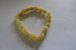 Calcit gelb Nugget Armband elastisch 19 cm