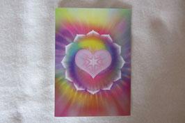 Energiesymbol Energiekarte Lotusherz Schwingungsbild Kartengröße 17 x 12 cm