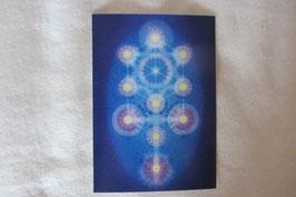 Energiesymbol Energiekarte Kabbala Lebensbaum Schwingungsbild Kartengröße 17 x 12 cm