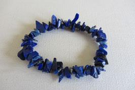 Lapislazuli Splitterarmband elastisch Stretchband 19 cm