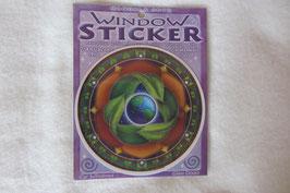 Erde Schutz Fensterbild 10,5 cm Durchmesser mit Klebefolie