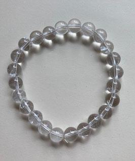 Bergkristall Kugelarmband 8 mm, glasklar,  Durchmesser  19 cm lang elastisch