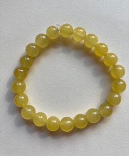 Jade gelb 8 mm Perlen, Armband 19 cm elastisch Stretchband