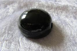Obsidian Spiegel Anhänger gebohrt 35 mm Durchmesser