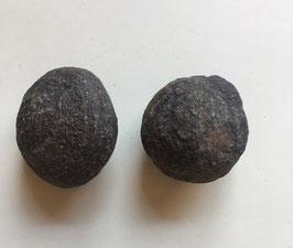Moqiu Marbles Paar -  Größeweiblich ca. 25mm Durchmesser, männlich ca. 35 x 25 mm, Gewicht 59 Gramm - Utah USA