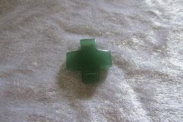 Aventurin grün Kreuz Anhänger 30 mm gebohrt