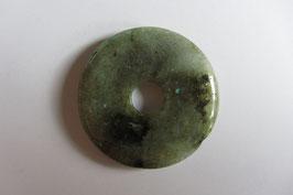 Labradorit Donut Anhänger 40 mm Durchmesser