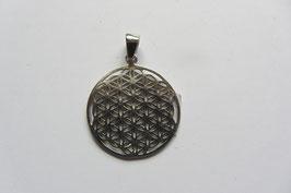 Blume des Lebens 20 mm Durchmesser 925 Silber