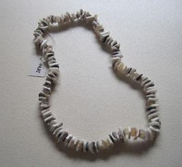 Muschelkette Splitterkette 39 cm mit silberfarbigem  Drehverschluss