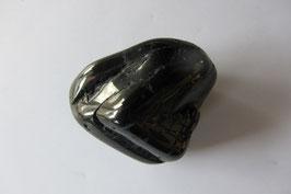 Turmalin schwarz - Schörl Trommelstein 30 x 25 mm