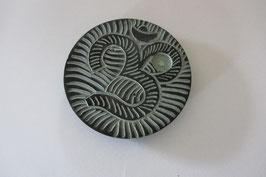 """Räucherstäbchenhalter """"OM"""" 10 cm Durchmesser aus Speckstein"""