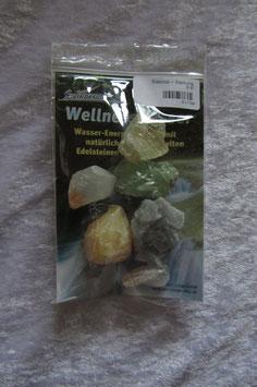Wellnesswasser-Trinkmischung Bunte Calcit Mischung Calcit grün Calcit gelb Calcit blau Calcit rot  Calcit braun  - 8415H - Trommelsteine