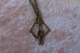 """Kette mit Amulett Metallanhänger """"Tribute von Panem"""" 36 x 24 mm bronzefarbig, Kettenlänge 50 cm """"Spotttölpel"""""""
