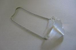 Bergkristall Pendel 35 mm mit 20 cm langer Pendelkette