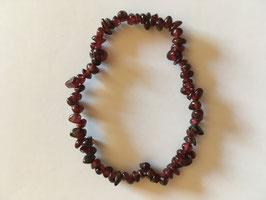 Granat Splitterarmband 19 cm elastisch Stretchband