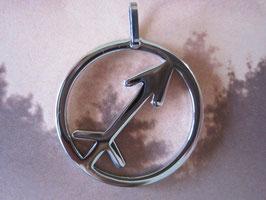 Edelstahlanhänger - Sternzeichen Schütze 25 x 25 x 2 mm