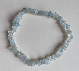 Topas blau Splitterarmband, Splitter 3-5 mm, elastisch Stretchband 19 cm