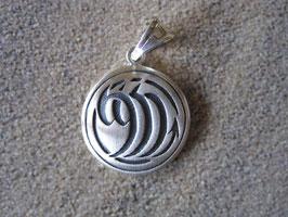 Tribal-Sternzeichen Skorpion - Anhänger 925 Sterling-Silber mattierte Oberfläche Durchmesser  2,2 cm