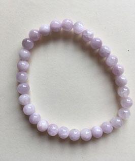 Kunzit Kugel Armband rosa 19 cm lang, elastisches Band, Kugeln 6 mm Durchmesser