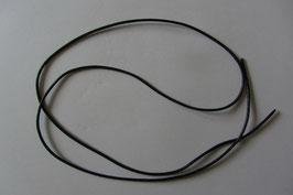 1 Lederband Rindleder schwarz  100 cm lang 2 mm Ø