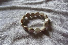 Shivas Auge Armband, runde 10 x 5 mm große Steine, elastisch Stretchband 18 cm lang