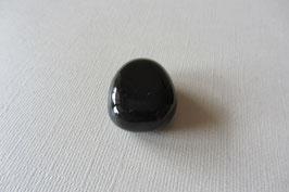 Onyx  schwarz Anhänger gebohrt 30 x 33 mm