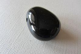 Onyx  schwarz Anhänger gebohrt  30 x 23 mm