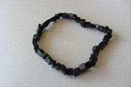 Onyx Würfel-Armband  20 cm lang, elastisch Stretchband