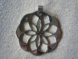 Edelstahlanhänger – Blume 40 x 40 x 2 mm