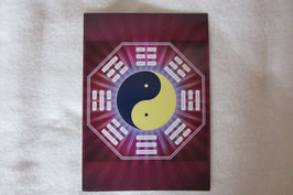 Energiesymbol Energiekarte Yin Yang Ba Gua Schwingungsbild Kartengröße 17 x 12 cm