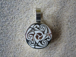 Edelstahlanhänger - Keltisches Tribal  19 x 29 x 4 mm