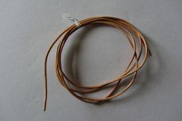 1 Lederband  100 cm lang 1,0 mm Ø - Rindleder hellbraun