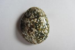 Ozean-Jaspis Trommelstein Madagaskar 35 x 28 mm flach Scheibenstein