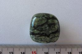 Serpentin - Zebraserpentin Trommelstein 20 x 20 mm