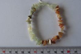 Mondstein mehrfarbig Splitterarmband elastisch Stretchband 20 cm