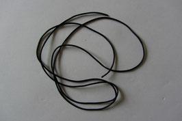 1 Band schwarz 100 % Baumwolle gewachst 100 cm lang 0,7 mm Ø