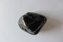 Turmalin schwarz - Schörl Trommelstein 27 x 22 mm