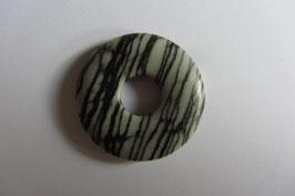 Zebraserpentin Donut 30 mm Durchmesser