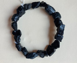 Tektit Rohstein Nugget Armband, Steine ca. 10 x 8 mm,   19 cm elastisch Stretchband
