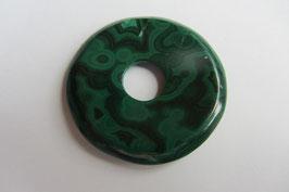Malachit Donut 35 mm Durchmesser stabilisiert