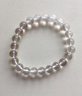Bergkristall Kugelarmband 8 mm Durchmesser, glasklar,  18 cm lang elastisch