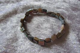 Perlmutt Armband elastisch Stretchband  19 cm