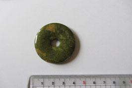 Epidot Donut Anhänger 40 mm